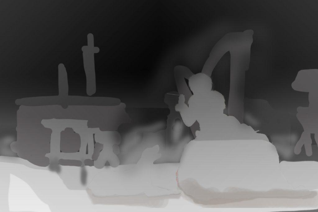 depth map of 3D photo